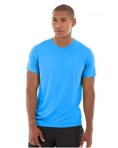 Atomic Endurance Running Tee (V-neck)-S-Blue