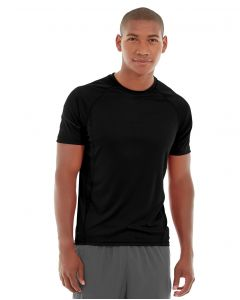 Atomic Endurance Running Tee (Crew-Neck)-S-Black