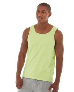 Tiberius Gym Tank-L-Yellow