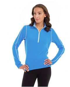 Olivia 1/4 Zip Light Jacket-S-Blue