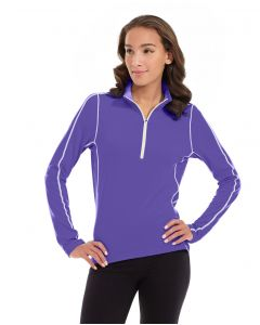 Olivia 1/4 Zip Light Jacket-M-Purple