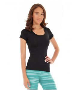 Desiree Fitness Tee-XL-Black