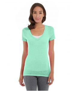 Karissa V-Neck Tee-XS-Green